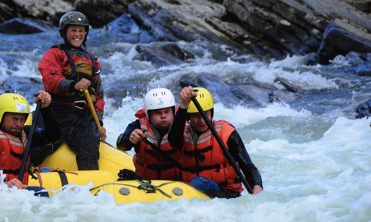 Franzi rafting in Norway with Sjoa Rafting