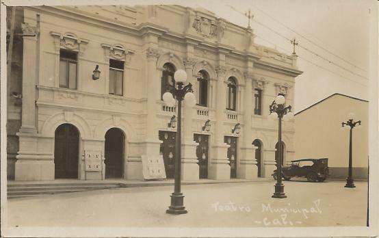 Teatro Municipal. José Tomas Buitrago, FOTOS ANTIGUAS SANTIAGO DE CALI