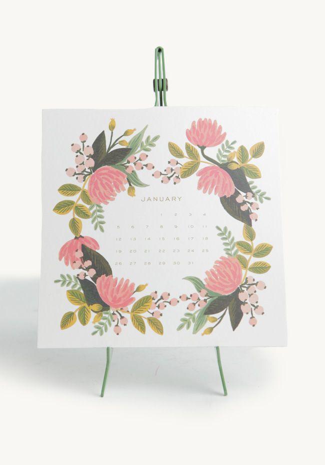 Botanical Desk Calendar By Rifle Paper Co. by: ShopRuche.com