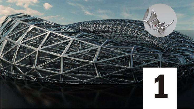 Rhino 3D Tutorial / Model complex 3D architectural geometry (1/11)