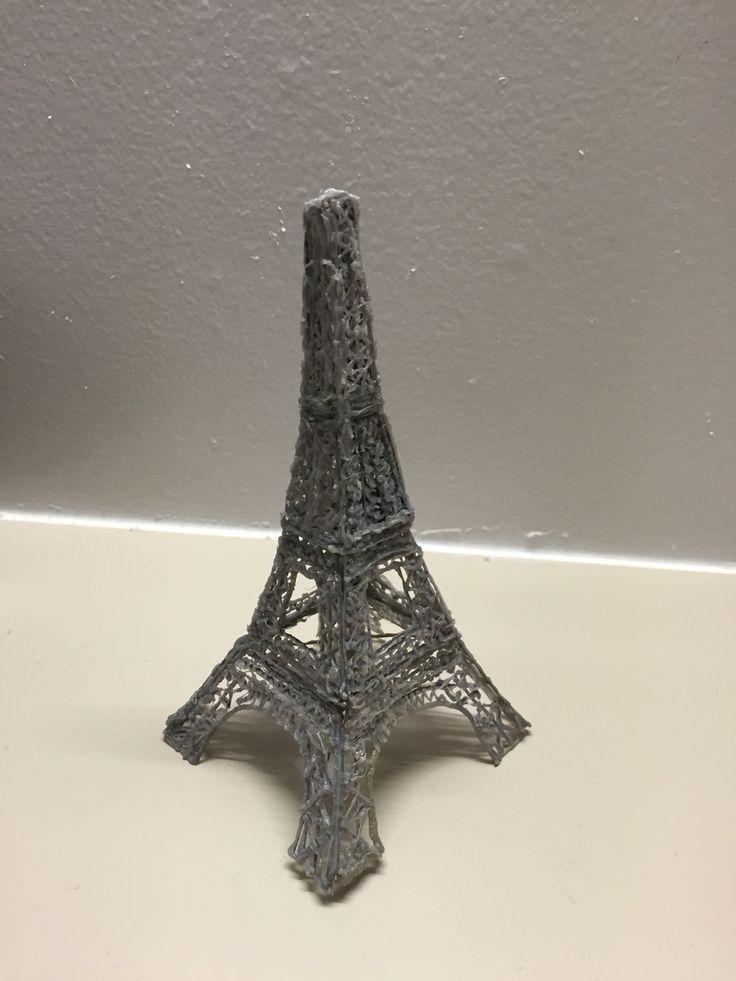 3d pen Eiffel Tour draw. Time to do: 2 hours. Medium.