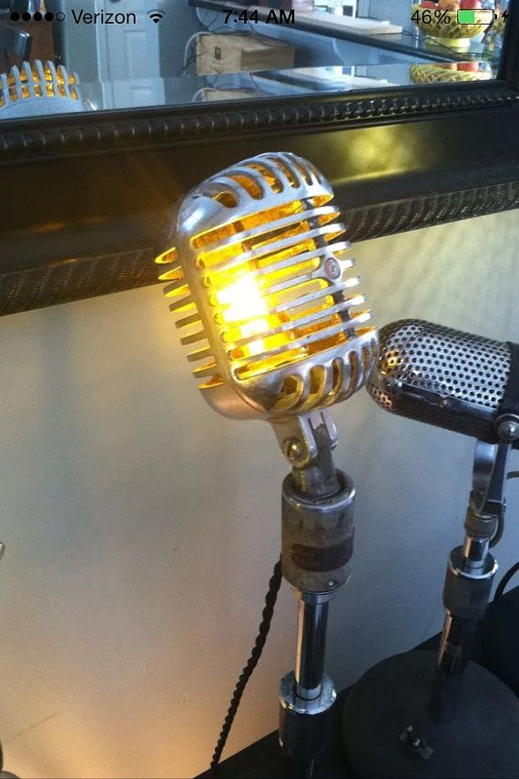 Vintage 1940's Shure 55 Fatboy Lamp by VintageAmbientLight on Etsy