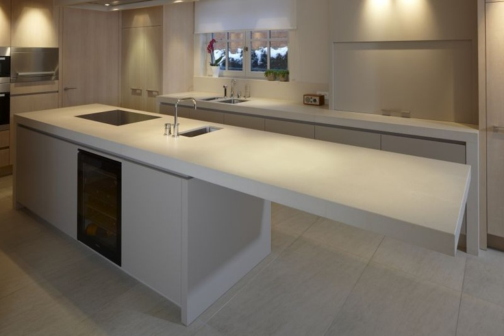Kitchens cantilevered quartz countertops photo for Cantilever counter support
