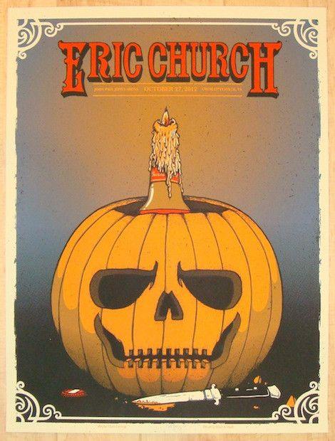 "Eric Church - silkscreen concert poster (click image for more detail) Artist: Matt Leunig Venue: John Paul Jones Arena Location: Charlottesville, VA Concert Date: 10/27/2012 Size: 18"" x 24"" Edition: A"