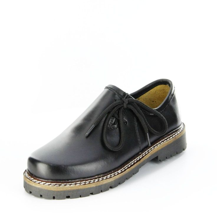 Unser #Schuh des Tages: Gibt es etwas niedlicheres als deine Kleinen in Karo-#Hemd und #Lederhose? Dann brauchen sie aber auch die passenden #Schuhe zum #Outfit. Bergheimer #Trachtenschuhe, #Kinder Trachten Haferlschuhe – Bergheim #Kids – black nappa; in 360° Ansicht