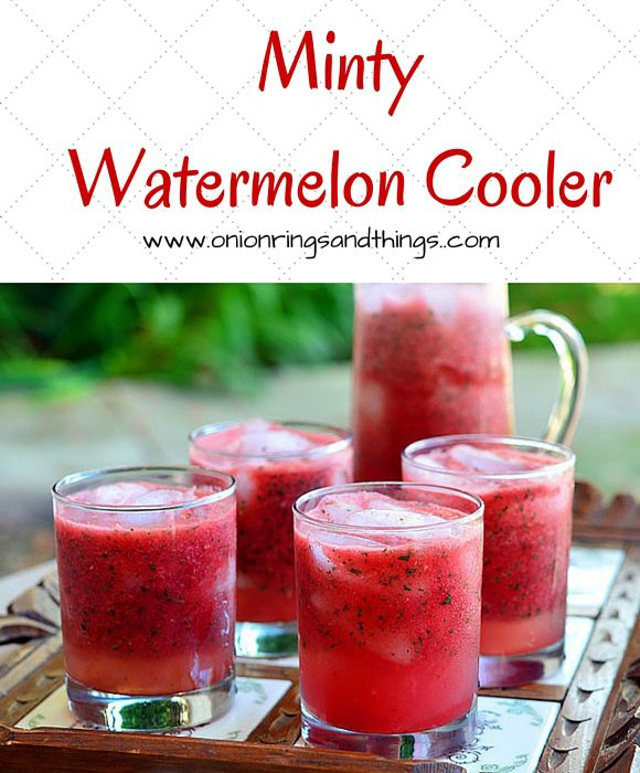 Minty Watermelon Cooler is a refreshing summer drink made with watermelon and mint; optional rum or vodka pumps it up for adult fun