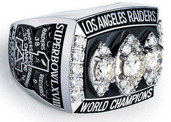 1983 Los Angeles Raiders Super Bowl XVIII Ring
