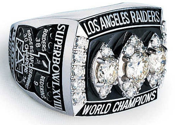 1983 Los Angeles Raiders Super Bowl XVIII Ring