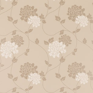 Laura Ashley wallpaper Isodore truffle floral