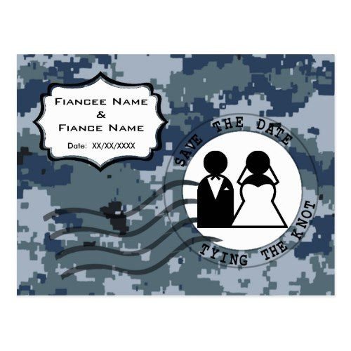 135 best military wedding invitation images on pinterest military military save the date wedding usn navy save the date bride and groom postcard stopboris Image collections