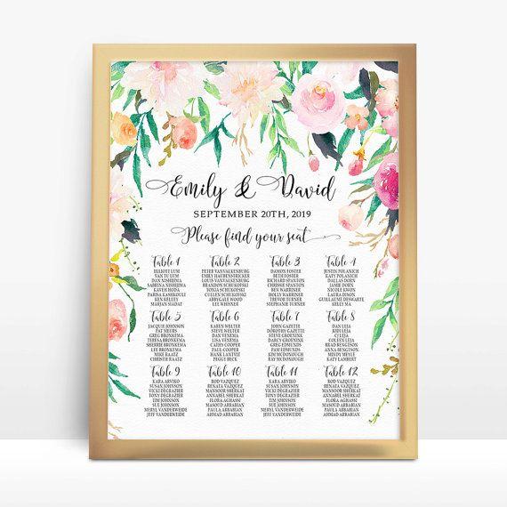 Personalizada boda asientos tabla tabla romántico jardín