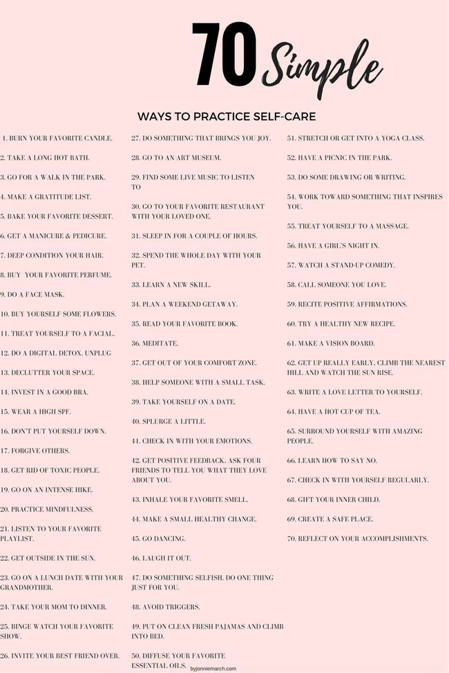70 Simple Ways to Practice Self-Care | Jonnie March
