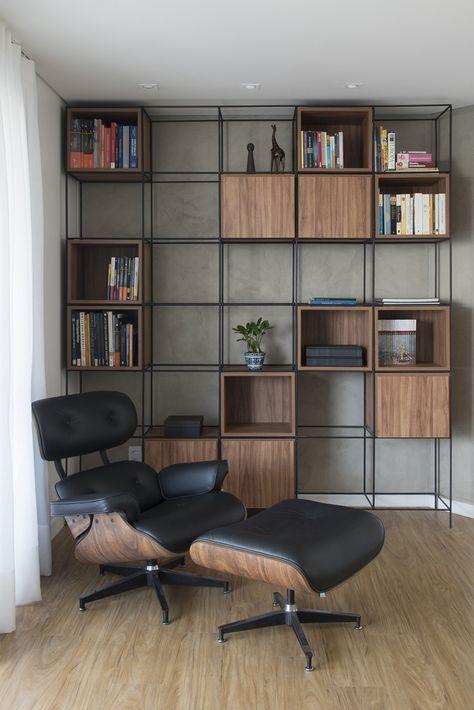 Apartamento moderno e com estilo industrial