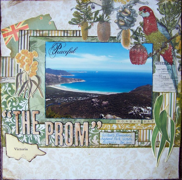"Kaisercraft Great Southern Land Collection - Scrapbook layout  ""The Prom"" - Scrapbook.com"