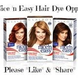 FREE Clairol Nice n' Easy Hair Dye ~ BzzAgent Campaign