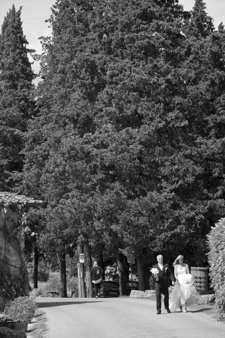 Wedding in Tuscany. Slottsbryllup i Toscana.