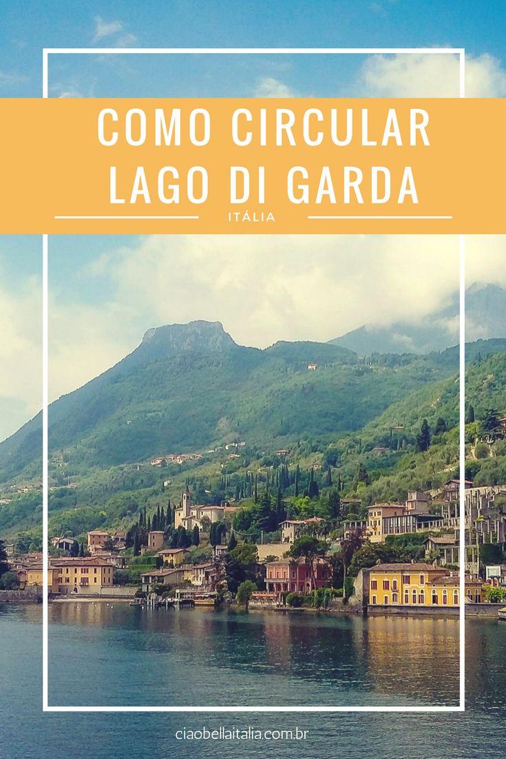 Como Circular de barco, Lago di Garda, norte da Itália, com empresa de Navigazione Lago di Garda.