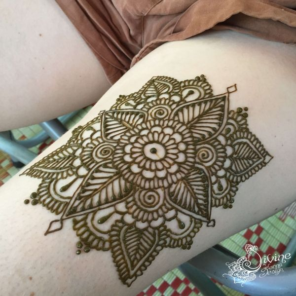 Big and bold henna designs by Divine Henna artists.