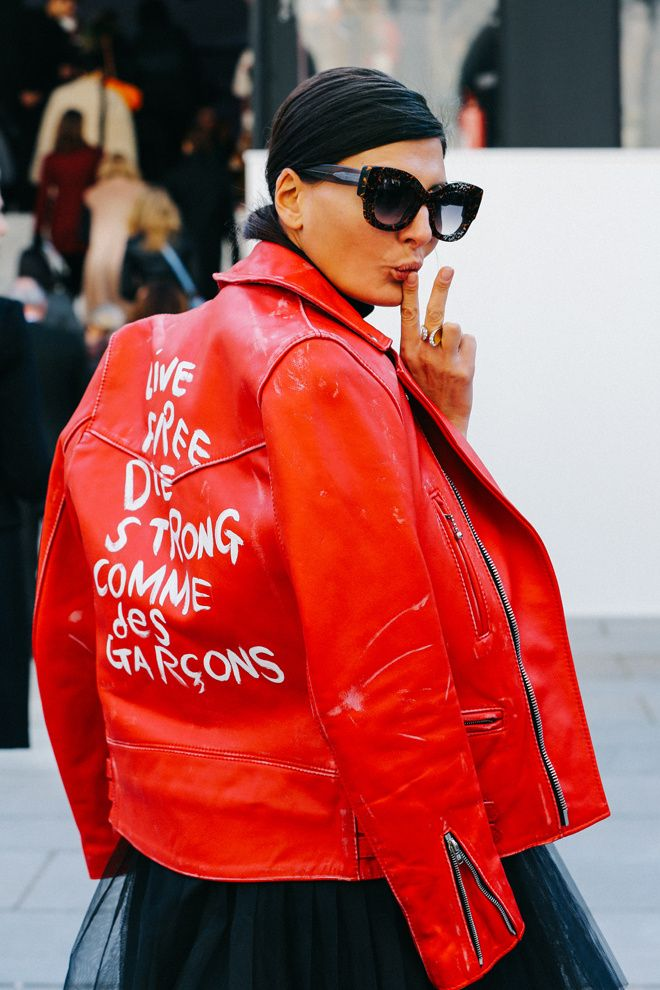 Giovanna in Comme Des Garçons at Paris Fashion Week Fall 2015 #PFW