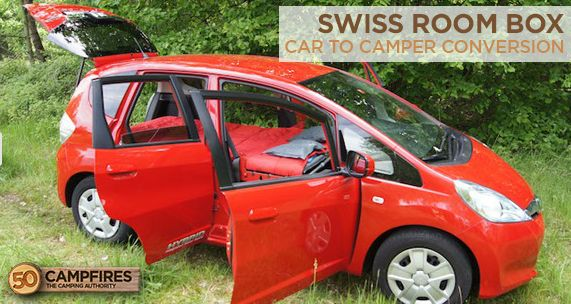 Pretty awesome car to camper conversion! It goes together so easily - http://50campfires.com/car-camper-conversion-swiss-room-box/ #camper #camping