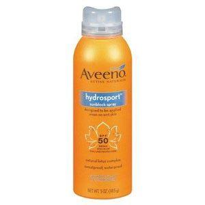 Los 10 mejores protectores solares para el cuerpo: Aveeno Hydrosport Sunblock Spray SPF 50