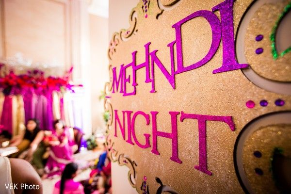 Mehndi party sign.