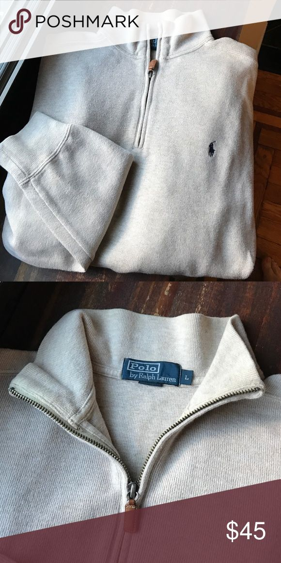 Polo by Ralph Lauren Men's Half-Zip Sweater Price Reduction‼ Men's size large Polo by Ralph Lauren cotton half-zip sweater. Rib-knit mockneck. Lightweight pullover perfect for layering! Polo by Ralph Lauren Sweaters Zip Up