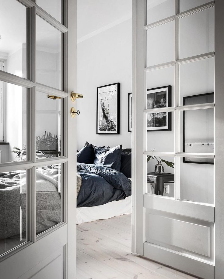 House And Home Interior Design Part - 43: White French Doors And Scandinavian Interior