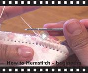 How to crochet around a hemstitched blanket, burp cloth or bib. Video is from Ammees Babies web site