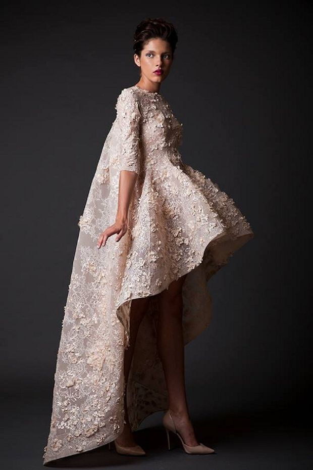 KRIKOR JABOTIAN 2015 | AMAL So cute so avant garde love it but not for my wedding