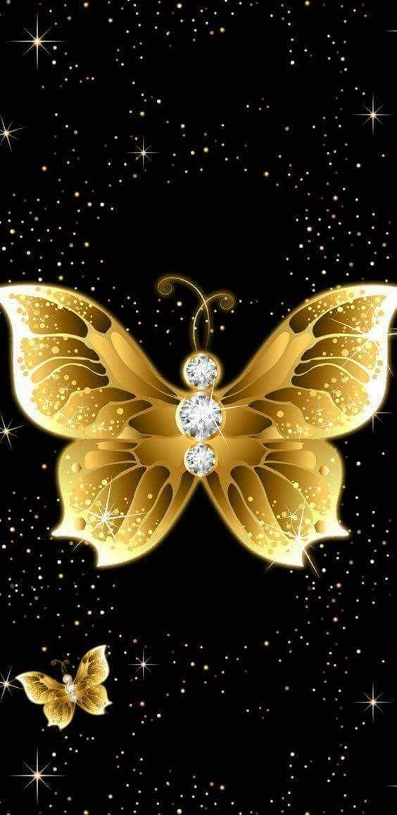Diamond Butterfly Butterfly Wallpaper Bling Wallpaper Butterfly Pictures