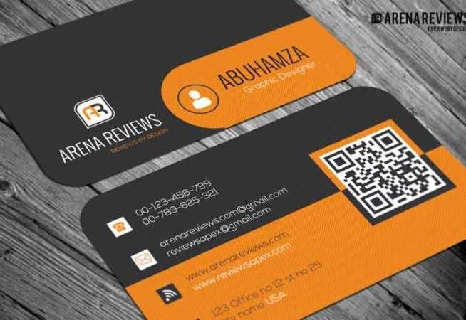 Free Orange And Black Pattern Business Card Template Free Business Card Templates Business Card Pattern Business Card Template