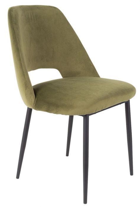 24designs Chair Cinderella Set Of 2 Olive Green Velvet