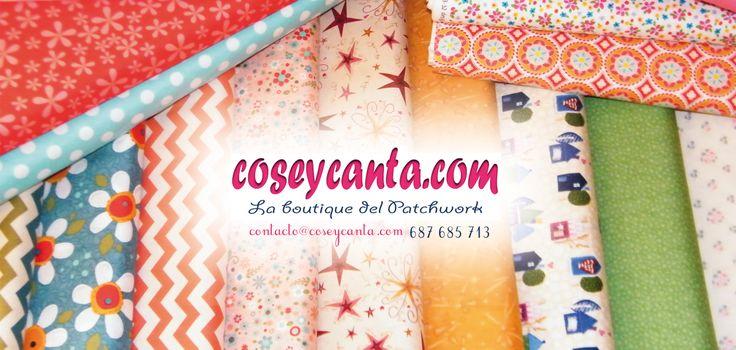 Entra a descubrir los distintos colores y estampados que tenemos. Te gustarán.http://coseycanta.com/es/470-telas-patchwork