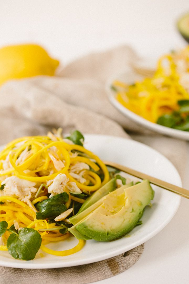 ... Citrus Golden Beet Noodle Salad with Crab, Avocado and Toasted Almonds
