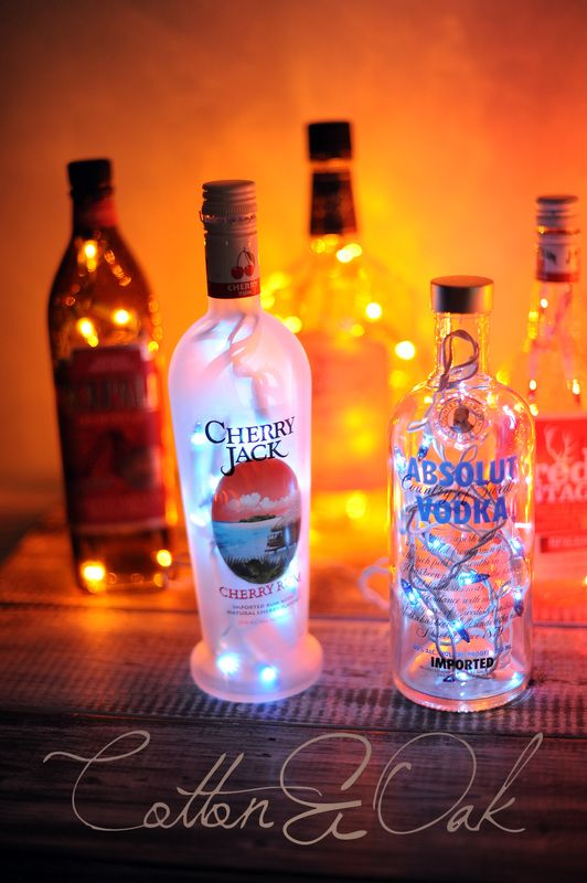 Light Up Liquor Bottles Diy Pinterest Cherries