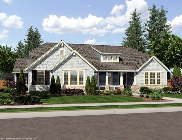 craftsman house plan 2 400 sq ft for the home pinterest