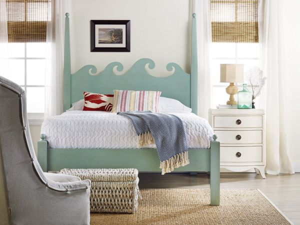 North Shore Bed - cute headboard idea but in a darker, richer, more jewel tone teal/aqua