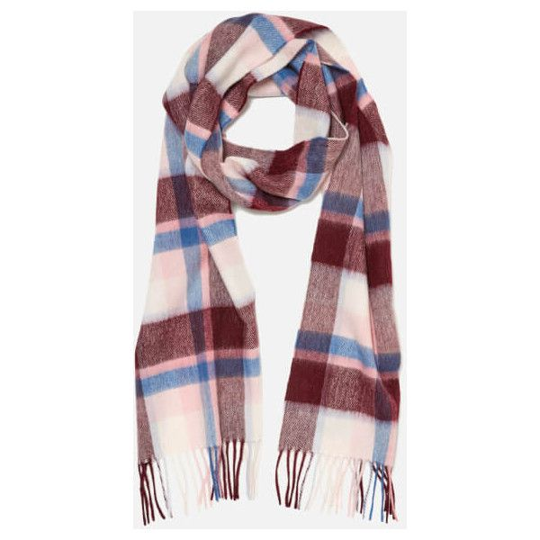 Barbour Women's Country Plaid Scarf - Pink Plaid (595 ARS) ❤ liked on Polyvore featuring accessories, scarves, tartan shawl, pink scarves, plaid scarves, tartan plaid shawl and plaid shawl