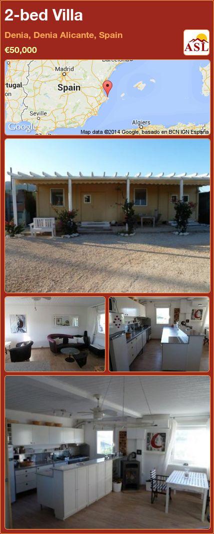 2-bed Villa in Denia, Denia   Alicante, Spain ►€50,000 #PropertyForSaleInSpain