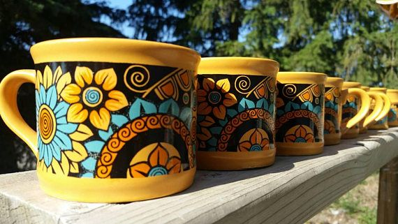 Check out this item in my Etsy shop https://www.etsy.com/listing/541549011/1970s-eight-piece-coffee-mug-tea-set