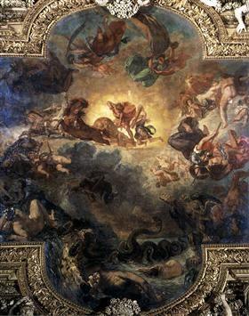 Apollo Slays Python - Eugene Delacroix
