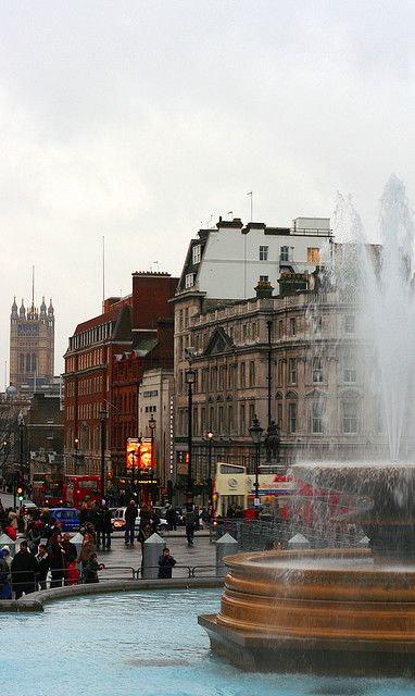 View from Trafalgar Square - London