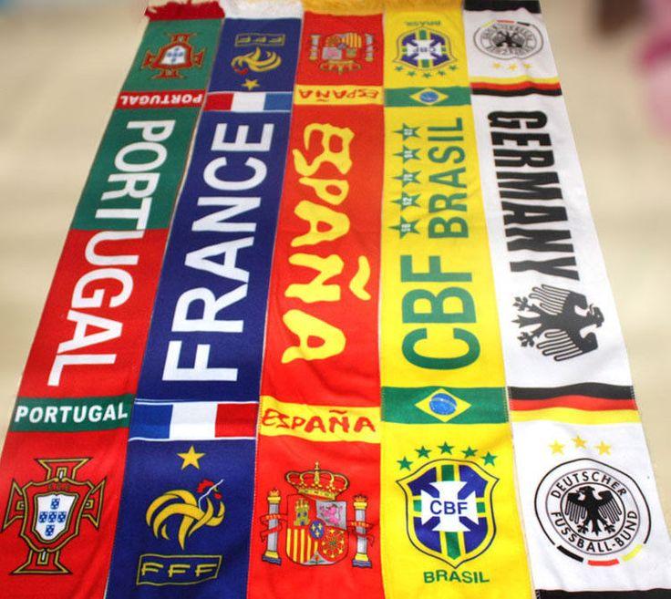 Soccer Club Team Scarf UEFA Euro 2016 football fans scarves Souvenir Neckerchief    eBay