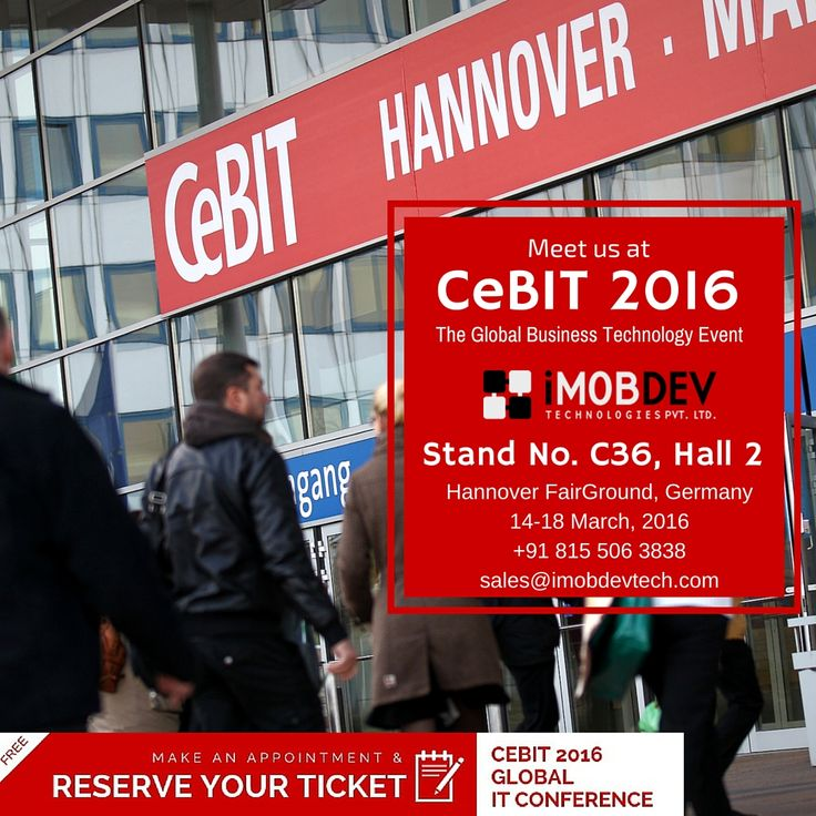 #cebit16 #conference : iMOBDEV is also taking part in it. let's meet there