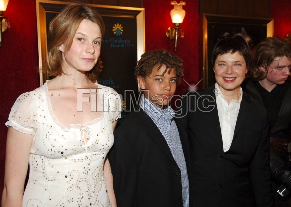 Elettra Rossellini Wiedemann, Roberto Rossellini and Isabella Rossellini (Photo by Michael Loccisano/FilmMagic)