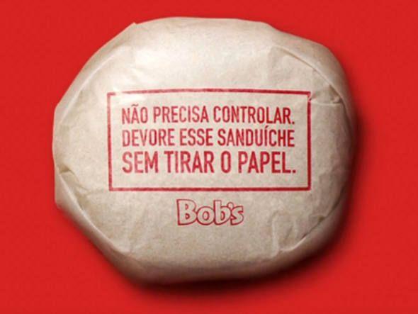 Embalagem comestível do Bob's para hambúrgueres