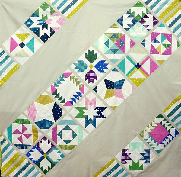 Block of the Month 2016 - Vice Versa | Modern quilting fabrics by Pink Castle Fabrics
