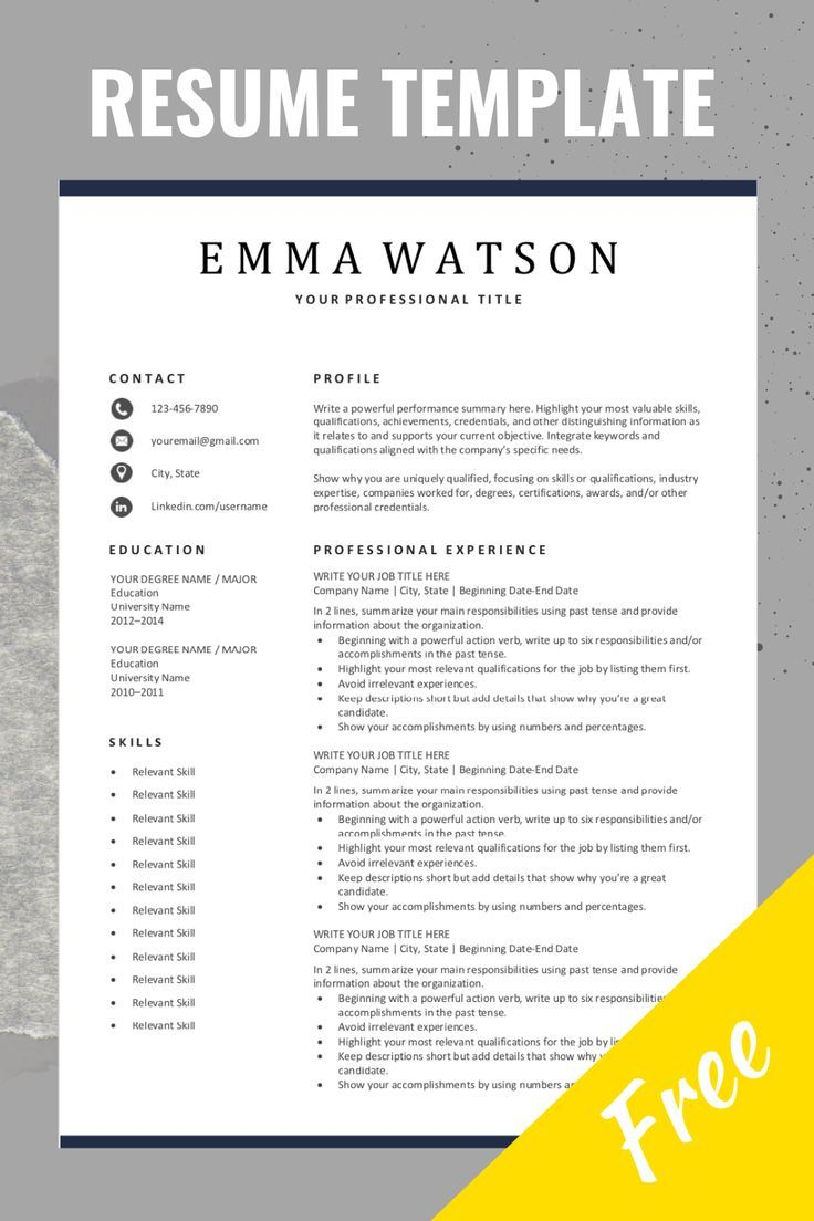 Simple Resume Template Free Download In 2020 Job Resume Examples Simple Resume Template Downloadable Resume Template