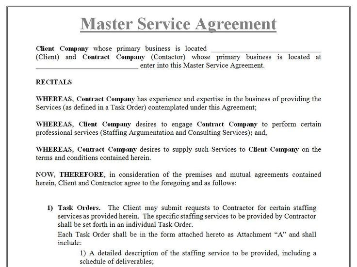 Tronmaster on - sample master service agreement